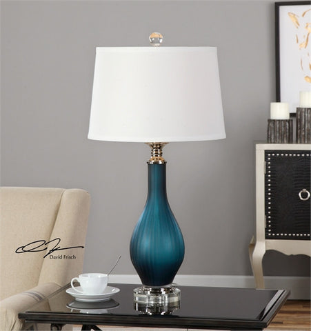 Uttermost Shavano Blue Glass Table Lamp (26902) - UTMDirect