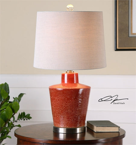 Uttermost Cornell Brick Red Table Lamp (26903) - UTMDirect