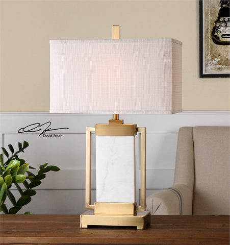 Uttermost Marnett White Marble Table Lamp (26940-1) - UTMDirect