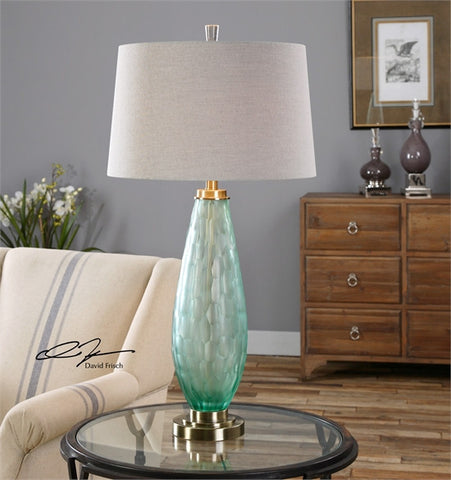 Uttermost Lenado Sea Green Glass Table Lamp (27003) - UTMDirect