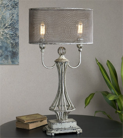 Uttermost Pontoise Aged Ivory Table Lamp (27008-1) - UTMDirect