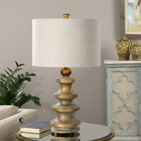 Uttermost Guadalete Antiqued Gold Lamp (27033-1) - UTMDirect