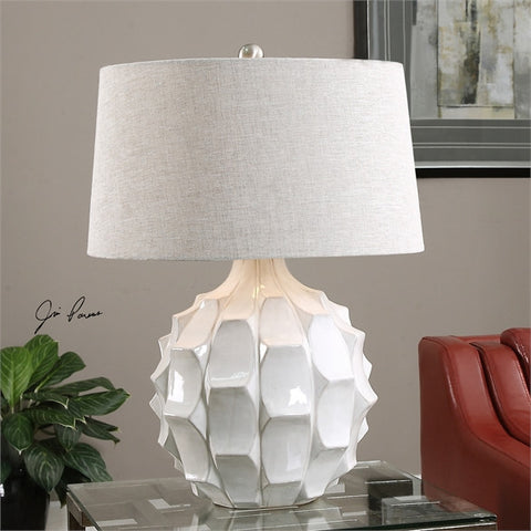 Uttermost Guerina Scalloped White Lamp (27052) - UTMDirect
