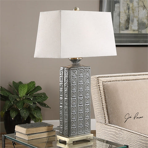 Uttermost Casale Aged Gray Lamp (27053) - UTMDirect