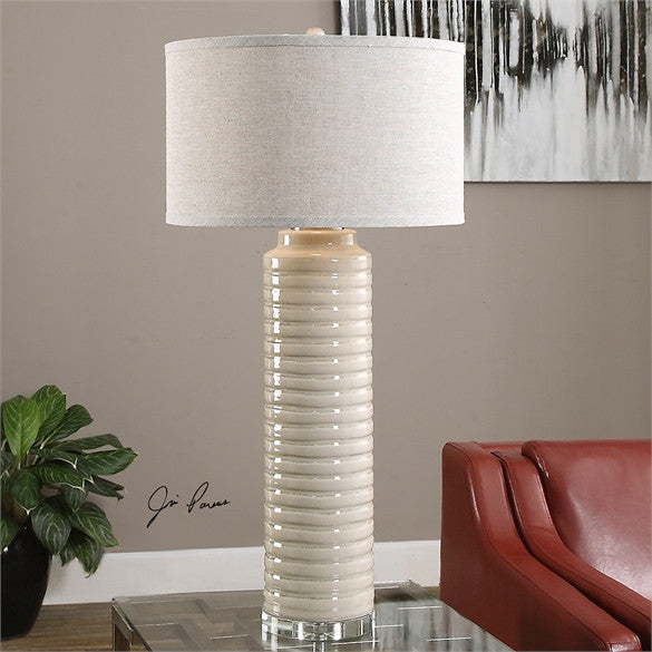 Uttermost Yana Ribbed Cylinder Lamp (27054-1)
