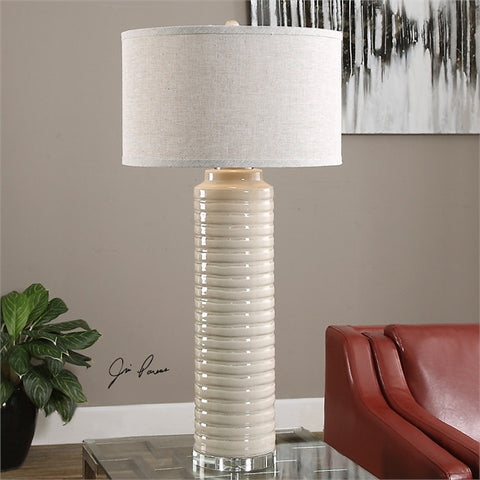 Uttermost Yana Ribbed Cylinder Lamp (27054-1) - UTMDirect