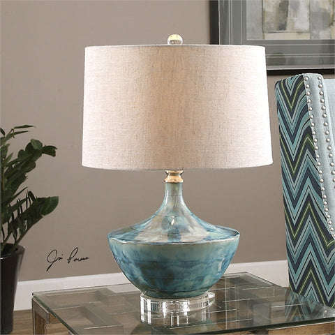 Uttermost Chasida Blue Ceramic Lamp (27059-1) - UTMDirect