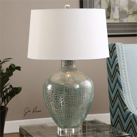 Uttermost Zumpano Crackled Gray Table Lamp (27061) - UTMDirect