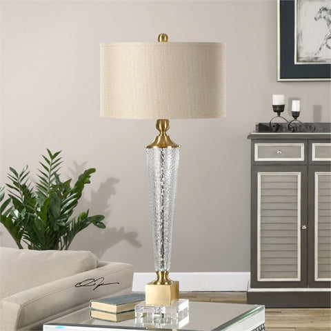 Uttermost Credera Textured Glass Lamp (27065) - UTMDirect