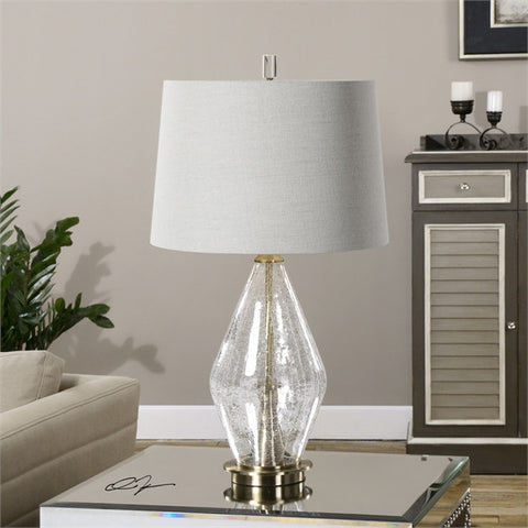 Uttermost Spezzano Crackled Glass Lamp (27086) - UTMDirect