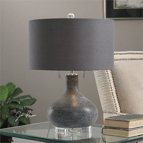 Uttermost Canelo Distressed Black Glass Lamp (27097-1) - UTMDirect