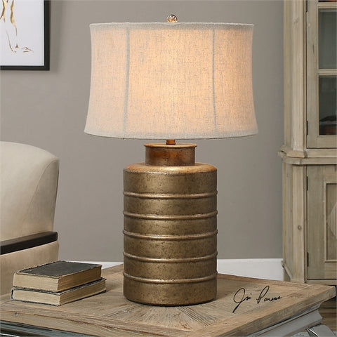 Uttermost Antiqued Gold Bamiro Lamp (27100) - UTMDirect