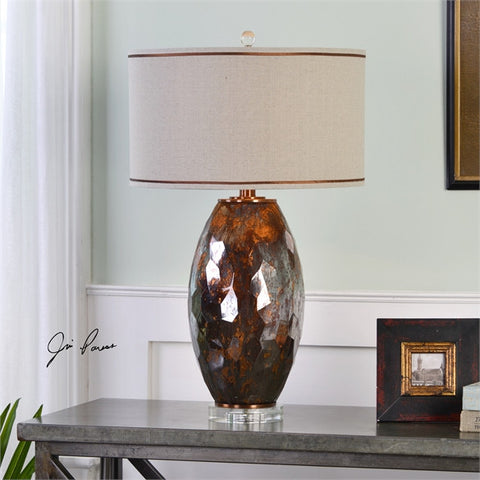 Uttermost Sabastian Bronze Glass Table Lamp (27132-1) - UTMDirect