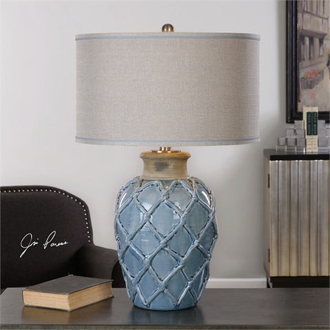 Uttermost Parterre Pale Blue Table Lamp (27139-1) - UTMDirect