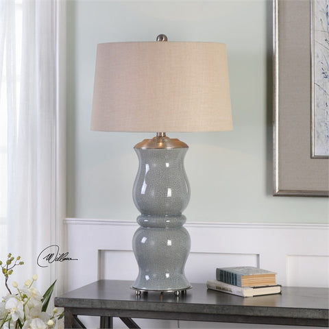 Uttermost Cannobino Pale Blue Table Lamp (27162) - UTMDirect