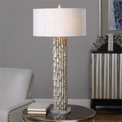 Uttermost Silver Bamboo Table Lamp (27177-1) - UTMDirect