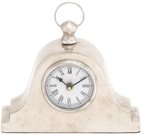 "Bayden Hill Alum Table Clock 9""W, 8""H - Peazz.com"