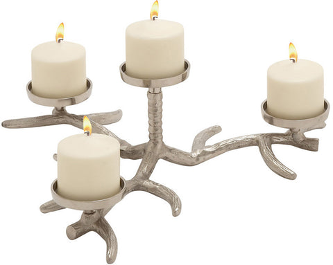 Benzara 27572 Grand And Timeless Aluminum Candle Holder