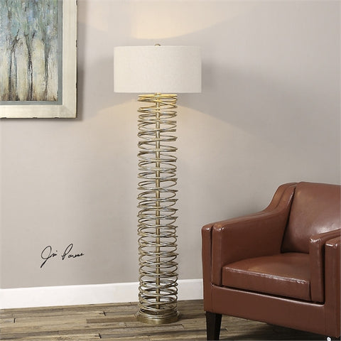 Uttermost Amarey Metal Ring Floor Lamp (28073) - UTMDirect