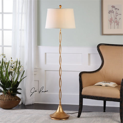 Uttermost Elica Gold Twist Floor Lamp (28081) - UTMDirect