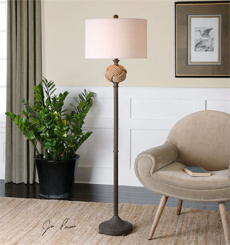 Uttermost Higgins Rope Sphere Floor Lamp (28260-1) - UTMDirect