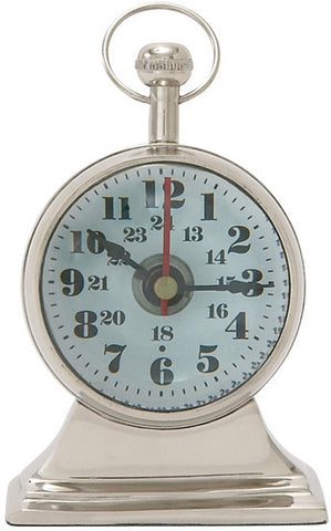 "Bayden Hill Alum Table Clock 4""W, 6""H - Peazz.com"