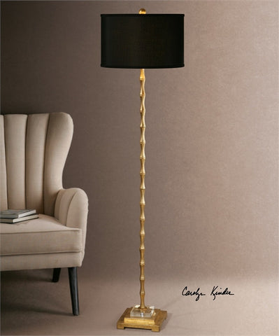 Uttermost Quindici Metal Bamboo Floor Lamp (28598-1) - UTMDirect