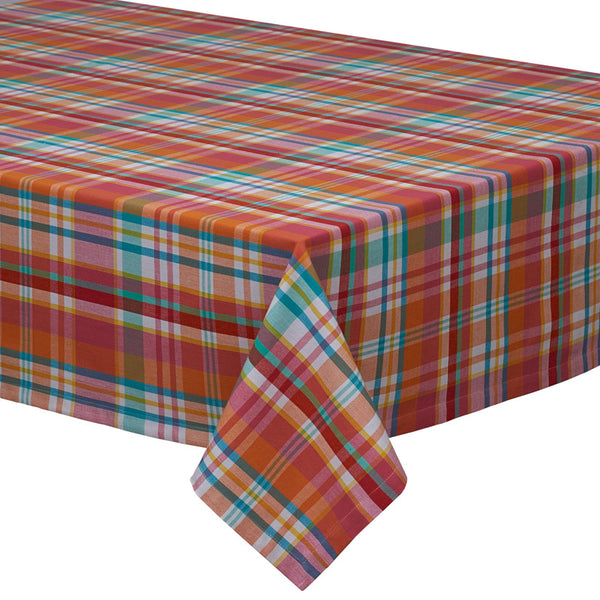 colors for kitchens design imports 28753 malibu madras plaid tablecloth 60 x 84 quot 28753