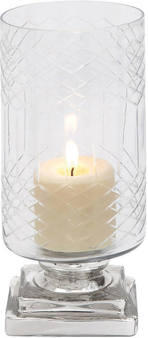 Benzara 28865 Smart Styled Opaque Designed Glass Candle Holder