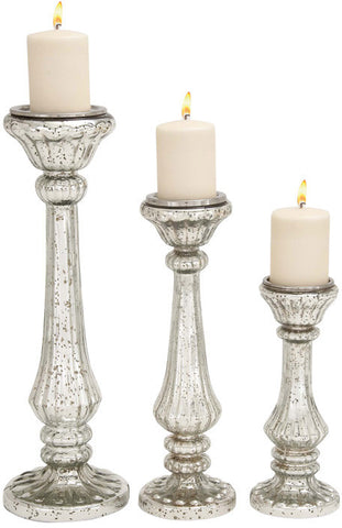 Benzara 28884 Beautiful Styled Glass Candle Holder