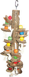 Happy Beaks Wood Hanging Cylinders Bird Toy