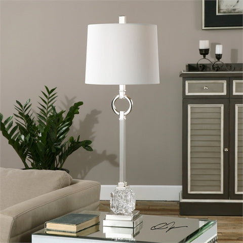 Uttermost Bordolano Polished Nickel Buffet Lamp (29199-1) - UTMDirect