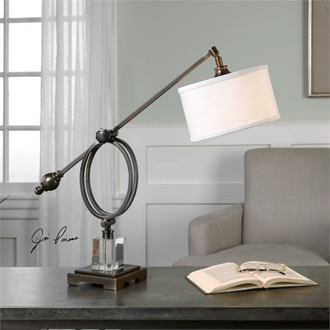 Uttermost Levisa Dark Bronze Desk Lamp (29207-1) - UTMDirect