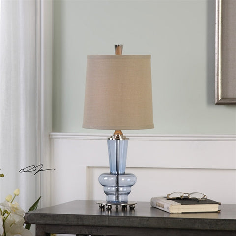 Uttermost Aubin Blue Glass Buffet Lamp (29220-1) - UTMDirect
