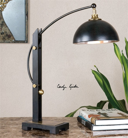 Uttermost Malcolm Oil Rubbed Bronze Desk Lamp (29587-1) - UTMDirect