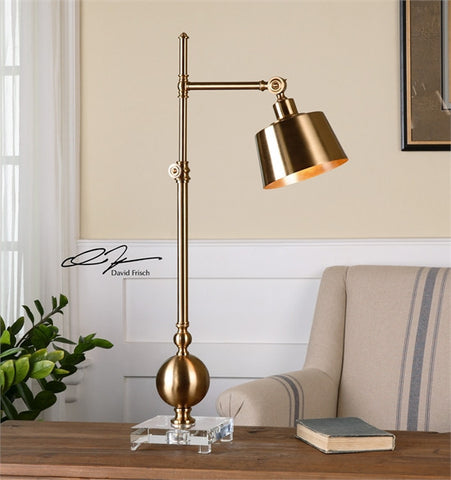 Uttermost Laton Brushed Brass Task Lamp (29982-1) - UTMDirect