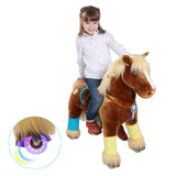 Vroom Rider x PonyCycle VR-K42 Ride-On Brown Horse for 4-9 Years Old - Medium