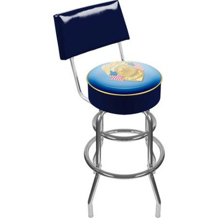 PO1100 Police Officer Padded Swivel Bar Stool With Back