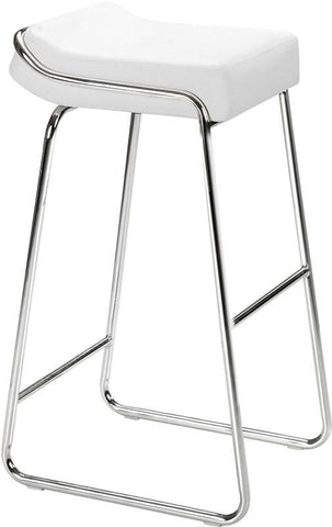 Zuo Modern 300042 Wedge Barstool Color White Chromed Steel Finish - Set of 2 - BarstoolDirect.com - 1