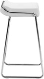 Zuo Modern 300042 Wedge Barstool Color White Chromed Steel Finish - Set of 2 - BarstoolDirect.com - 2