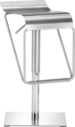 Zuo Modern 300193 Dazzer Barstool Color Brushed Stainless Steel Brushed Stainless Steel Finish - BarstoolDirect.com - 1