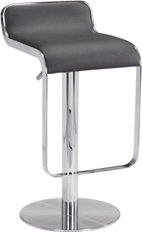 Zuo Modern 301114 Equino Barstool Color Espresso Chromed Stainless Steel Finish - BarstoolDirect.com - 1