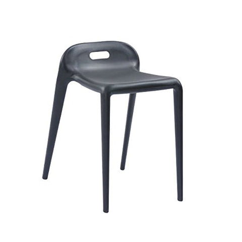 Mod Made MM-PC-085-BLACK E-Z Modern Stacking Stool Chair 2-Pack