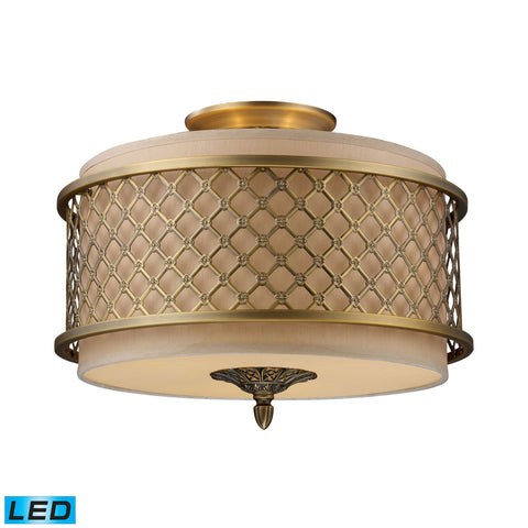 ELK Lighting 31031/3-LED Chester Collection Brushed Antique Brass Finish - PeazzLighting