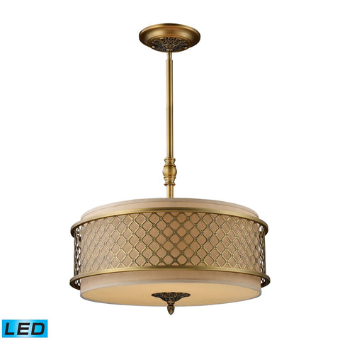 ELK Lighting 31033/4-LED Chester Collection Brushed Antique Brass Finish - PeazzLighting
