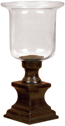 Benzara 31087 Metal Glass Candle Holder For Special Celebrations