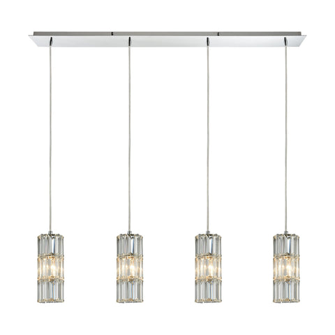 ELK Lighting 31486/4LP Cynthia Collection Polished Chrome Finish - PeazzLighting