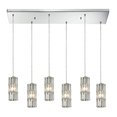 ELK Lighting 31487/6RC Cynthia Collection Polished Chrome Finish - PeazzLighting
