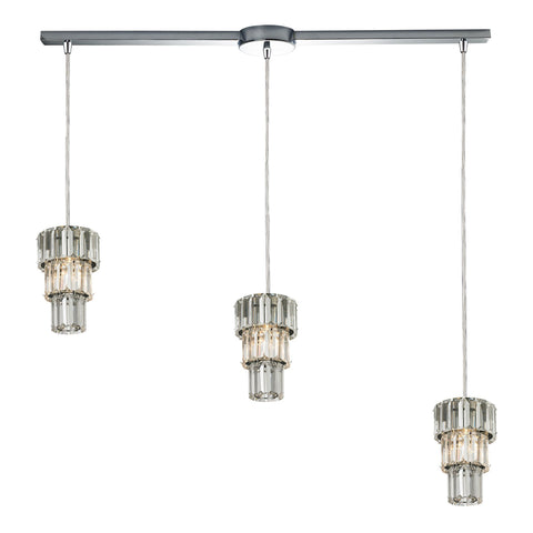 ELK Lighting 31489/3L Cynthia Collection Polished Chrome Finish - PeazzLighting