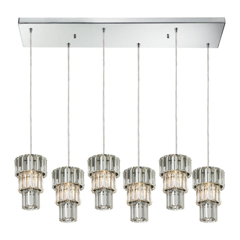 ELK Lighting 31489/6RC Cynthia Collection Polished Chrome Finish - PeazzLighting